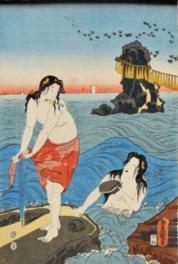 光氏磯辺遊之図 (三代)歌川豊国(鯨と海女の研究室/蔵)