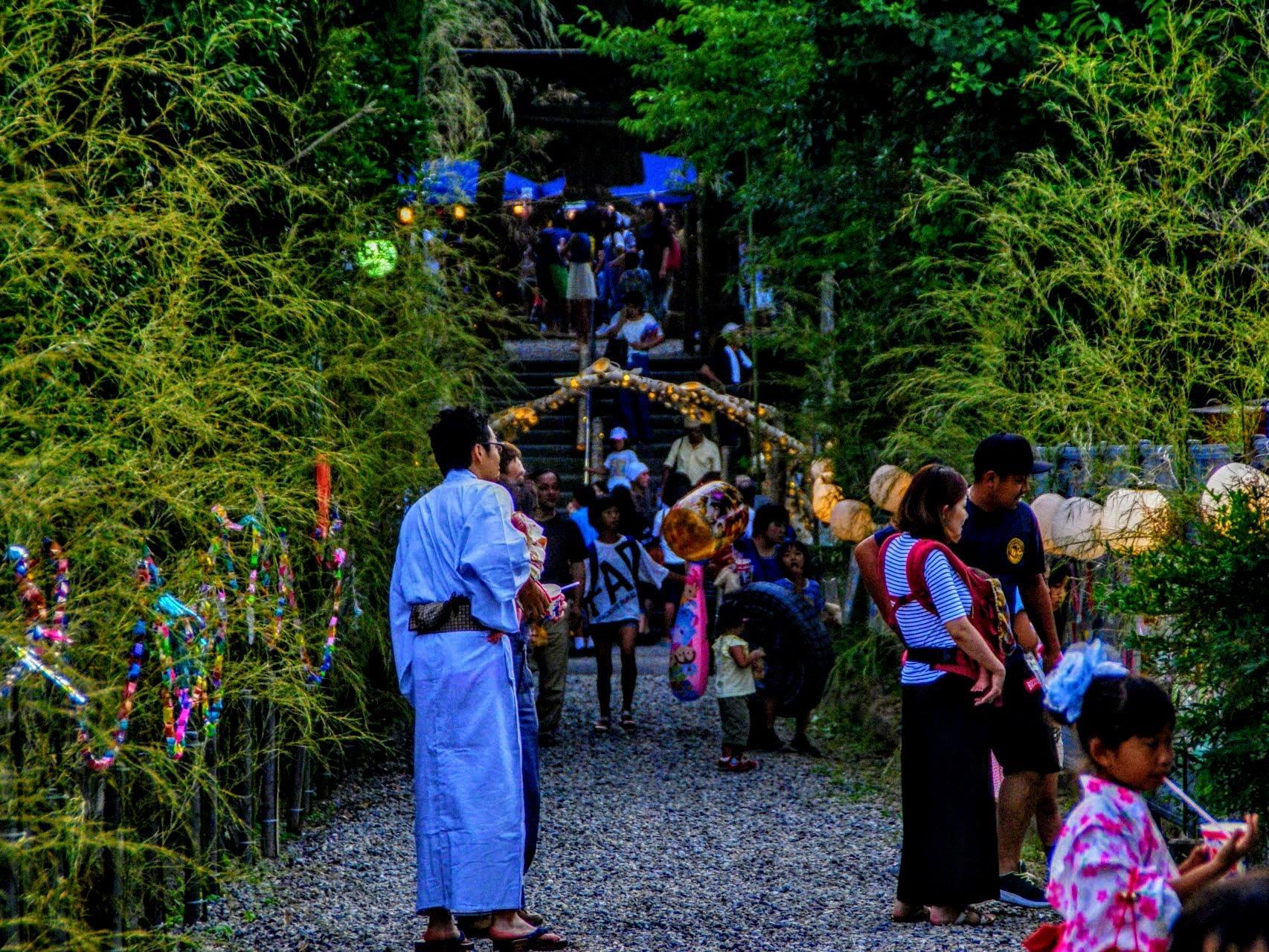 七夕まつり in 宇賀多神社